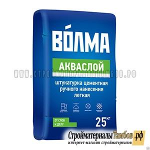 """Штукатурка цементная """"Волма-Акваслой"""" (25 кг); 56шт/пал(4607114282634)"""