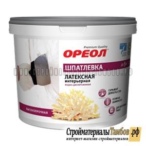 """Шпатлевка интерьерная"""" ОРЕОЛ""""  водно-дисперсионная латексная для внутренних работ 1,5 кг"""