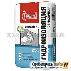 Гидроизоляция обмазочная Акващит W6 25 кг 3400
